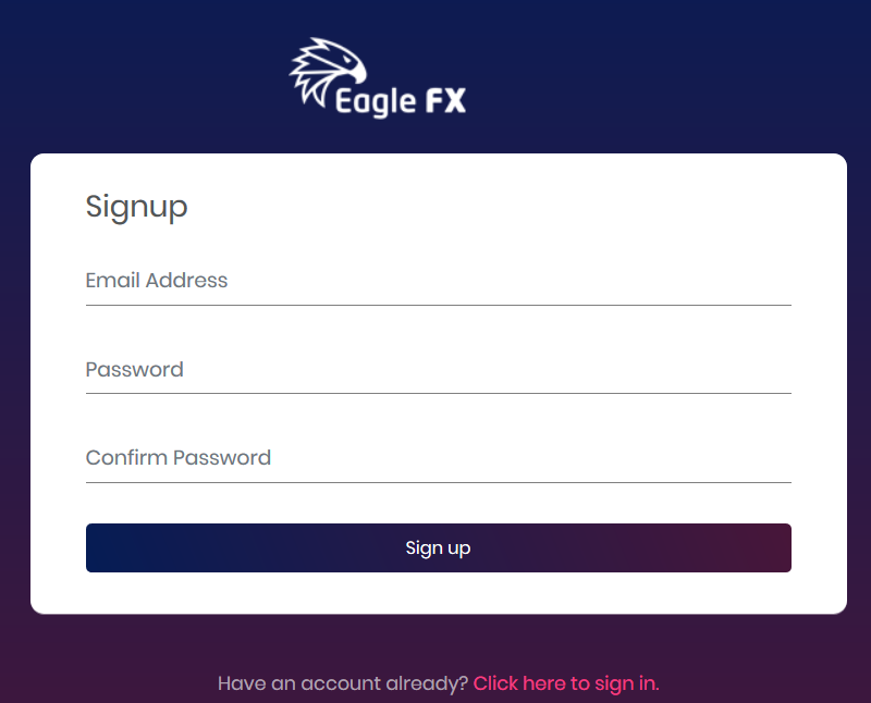 EagleFX SignUp Form