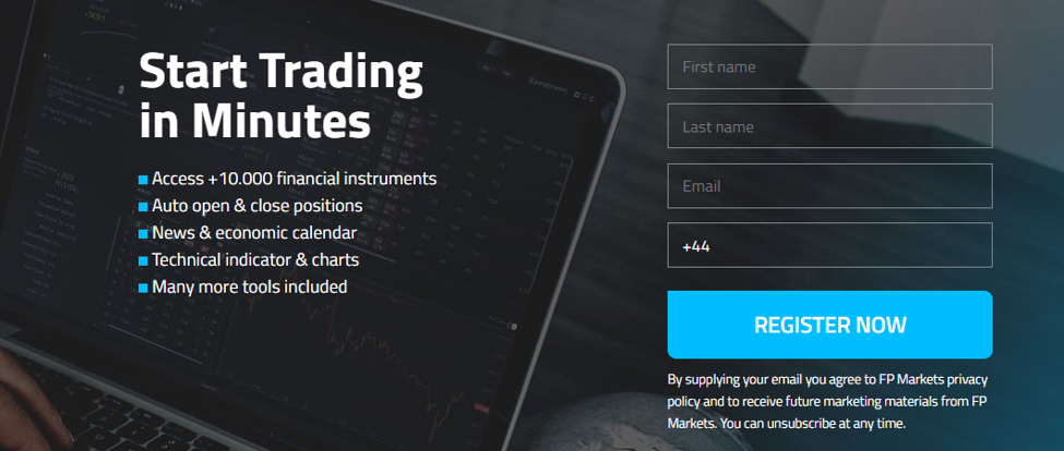 FP Markets Review - Open Trading Account