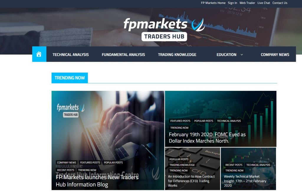 FP Markets Review Traders Hub Overview