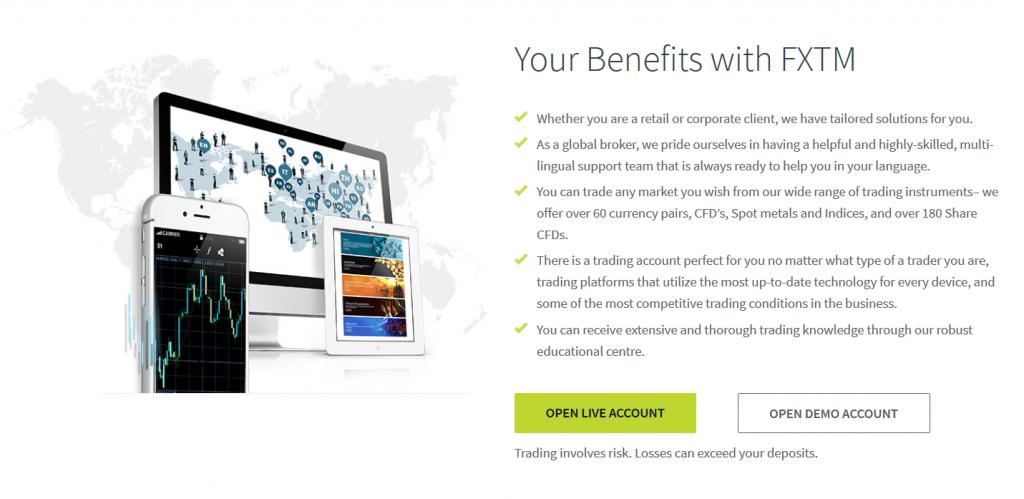 FXTM Review - Benefits