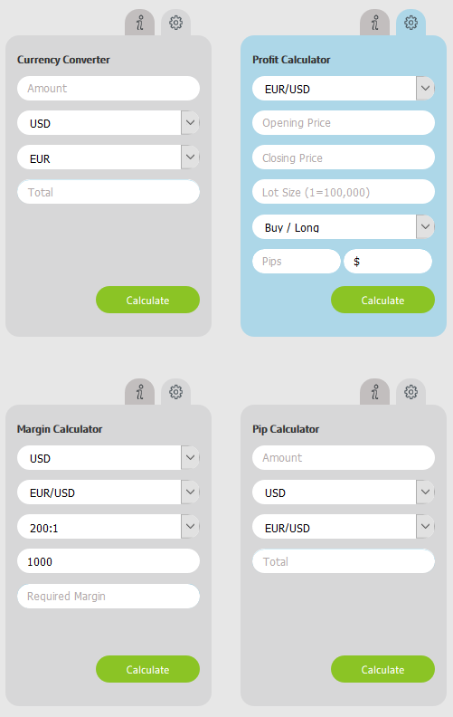 Alvexo Review - Trading Calculators