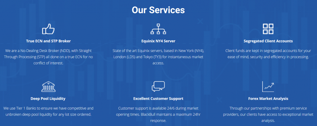 BlackBull Markets Review - Services Overview