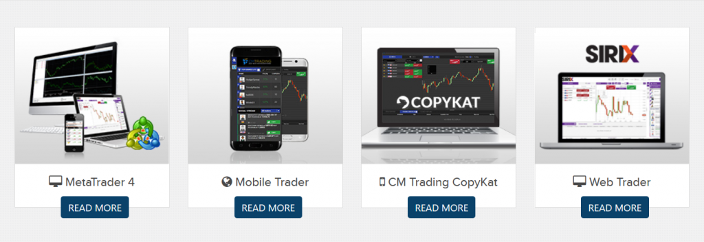 CM Trading Review - Platforms