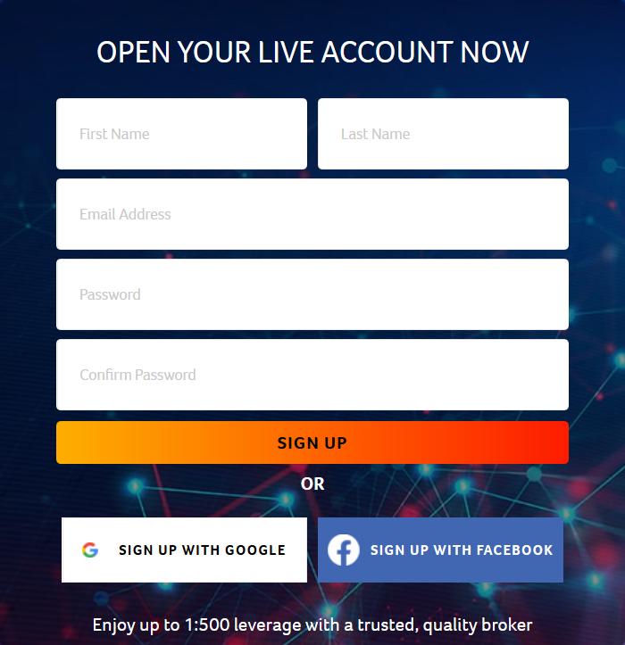 CryptoRocket Review - Registration Form