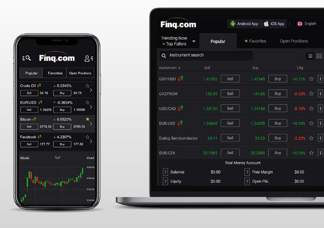 Finq Review - WebTrader Platform