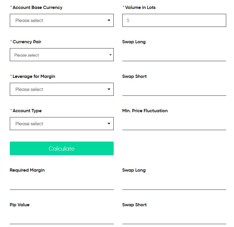 Trading.com Review - Forex Calculator