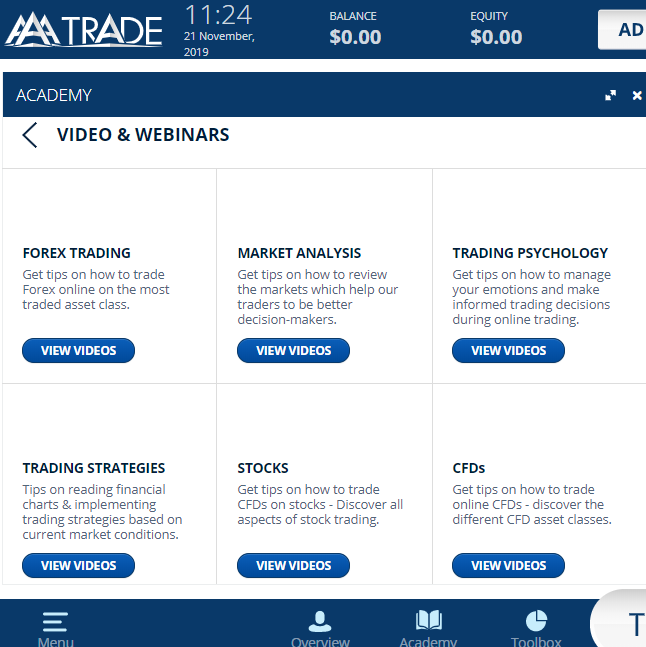 AAATrade Review - Education
