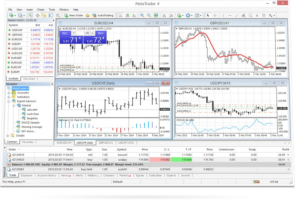 FXPIG Review - MT4 Platform