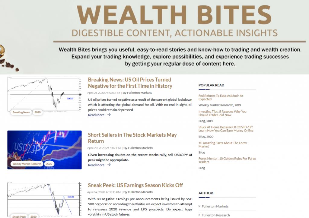 Fullerton Markets Review - Blog