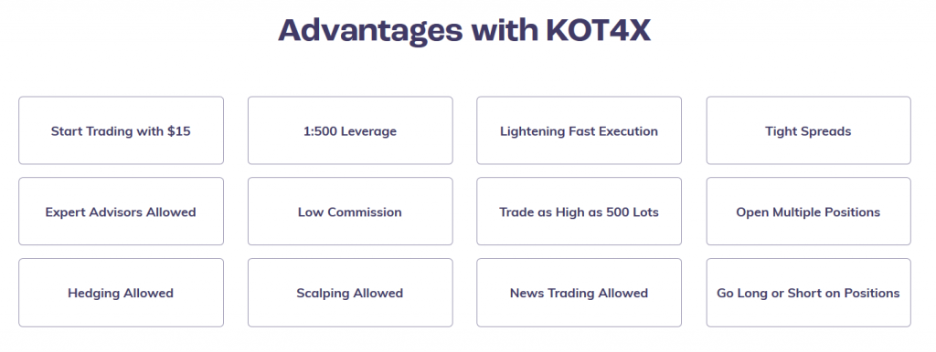 KOT4X Review - Broker Features