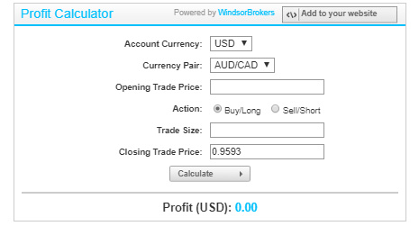 Windsor Brokers Review - Forex Calculator