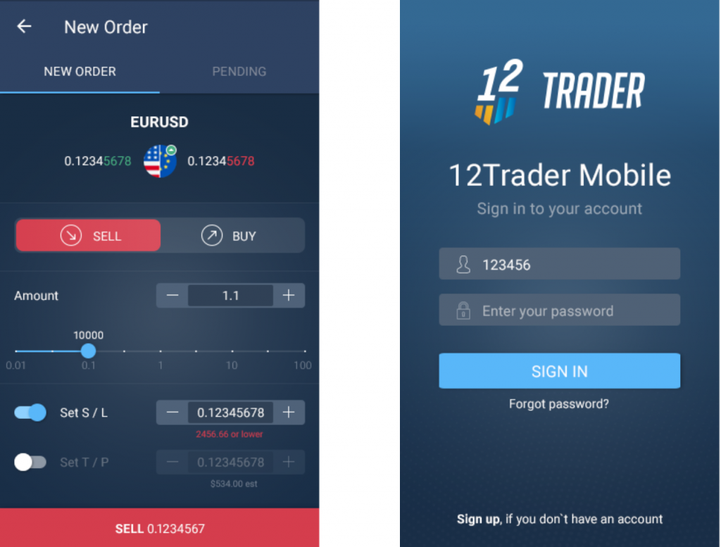 12 Trader Review - Mobile Trading App