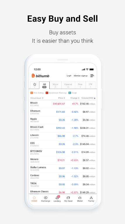 Bithumb Review - Mobile App
