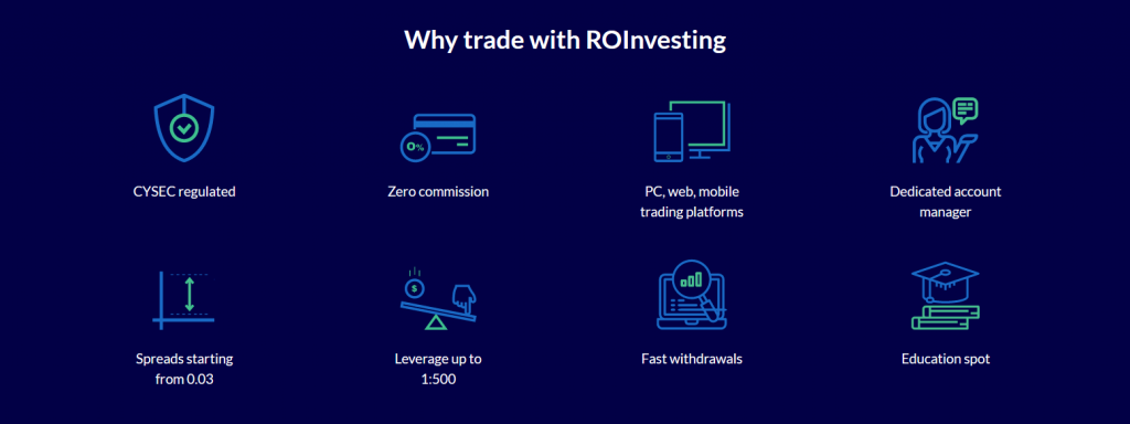 ROinvesting Review Broker Features