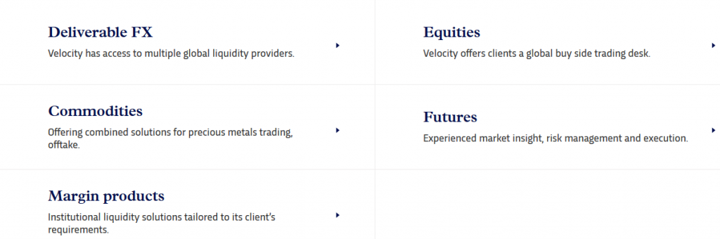 Velocity Trade Review Trading Instruments