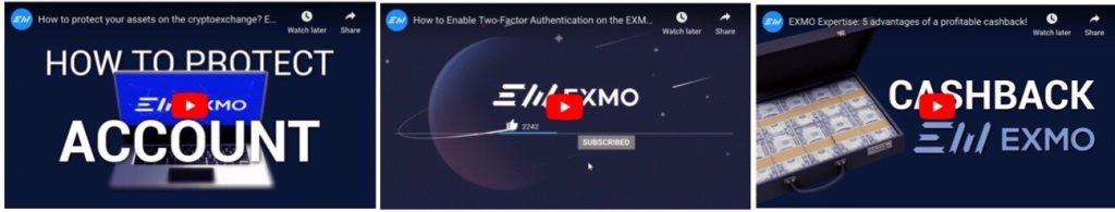 EXMO Review Tutorial Videos