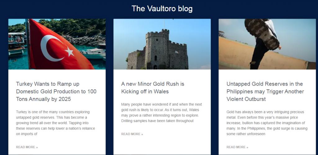 Vaultoro Review Trading Blog